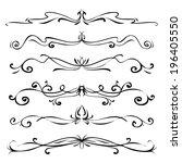 set of vintage vector dividers  ... | Shutterstock .eps vector #196405550