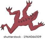 red scary creepy monster... | Shutterstock .eps vector #1964066509