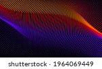 digital neon colour stripes... | Shutterstock .eps vector #1964069449