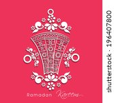 beautiful floral design... | Shutterstock .eps vector #196407800