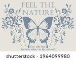 vintage feel the nature slogan... | Shutterstock .eps vector #1964099980