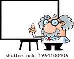 funny science professor cartoon ... | Shutterstock .eps vector #1964100406