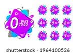 number of days left. countdown... | Shutterstock .eps vector #1964100526