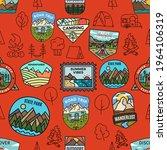 outdoor activity and adventure... | Shutterstock .eps vector #1964106319