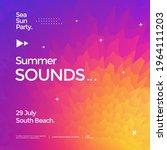 summer sounds electronic music...   Shutterstock .eps vector #1964111203