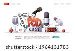 microphones  podcast elements....   Shutterstock .eps vector #1964131783