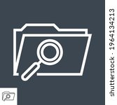 search folder thin line vector... | Shutterstock .eps vector #1964134213