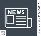 newspaper thin line vector icon.... | Shutterstock .eps vector #1964134216