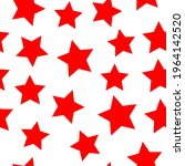 Red Vector Stars On A White...