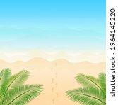 vector illustration. ocean from ... | Shutterstock .eps vector #1964145220