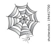 spider web art | Shutterstock .eps vector #196417700