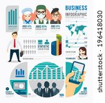 infographic business job... | Shutterstock .eps vector #196418030