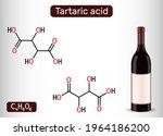 tartaric acid molecule and... | Shutterstock .eps vector #1964186200