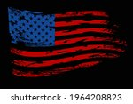 usa flag. distressed american... | Shutterstock .eps vector #1964208823