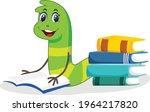 bookworm cartoon vector art and ... | Shutterstock .eps vector #1964217820