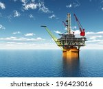 oil platform computer generated ... | Shutterstock . vector #196423016
