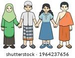 children diversity religion... | Shutterstock .eps vector #1964237656