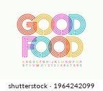 vector bright banner good food. ...   Shutterstock .eps vector #1964242099