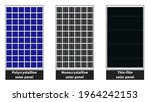 different types of solar panels ... | Shutterstock .eps vector #1964242153