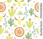 western cactuses desert...   Shutterstock .eps vector #1964260366