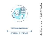 testing new drugs concept icon. ... | Shutterstock .eps vector #1964277616