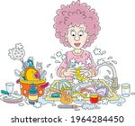 everyday homework  a cute young ...   Shutterstock .eps vector #1964284450