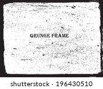 grunge frame. vector template | Shutterstock .eps vector #196430510