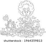 everyday homework  a cute young ...   Shutterstock .eps vector #1964359813