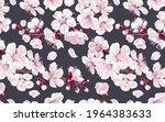 seamless pattern spring flowers ... | Shutterstock .eps vector #1964383633