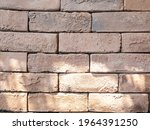 the walls are made of brown red ...   Shutterstock . vector #1964391250
