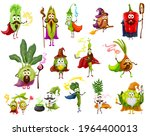 vegetable magician  witch ... | Shutterstock .eps vector #1964400013