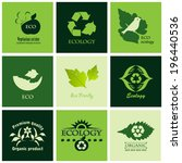 ecology icons set . vector... | Shutterstock .eps vector #196440536