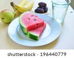 assorted fruits and slices of...   Shutterstock . vector #196440779