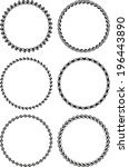 set of six round frames | Shutterstock .eps vector #196443890