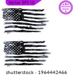 watercolor flag of the us. for... | Shutterstock .eps vector #1964442466