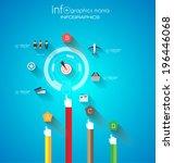 flat ui design concepts for... | Shutterstock .eps vector #196446068