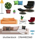 interior design elements. items ...   Shutterstock .eps vector #1964482360