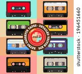 retro cassette tapes detailed... | Shutterstock .eps vector #196451660
