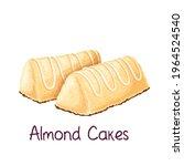 almond cakes vector... | Shutterstock .eps vector #1964524540