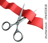 cutting the red ribbon | Shutterstock . vector #196452818
