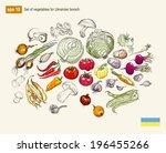 vector illustration set of... | Shutterstock .eps vector #196455266