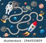 cute cartoon maze game template ... | Shutterstock .eps vector #1964553859
