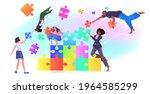 mix race businesspeople team...   Shutterstock .eps vector #1964585299