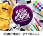 back to school vector template... | Shutterstock .eps vector #1964589619