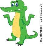 gator cartoon vector art and... | Shutterstock .eps vector #1964611129