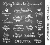 set of vector handwritten... | Shutterstock .eps vector #196463114