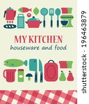my kitchen card design. vector...   Shutterstock .eps vector #196463879