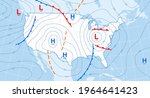 weather forecast map.... | Shutterstock .eps vector #1964641423