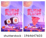 sushi planet cartoon posters...