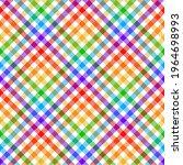 vichy plaid pattern rainbow... | Shutterstock .eps vector #1964698993